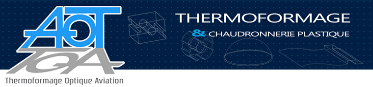 logo menu portable AOT thermoformage